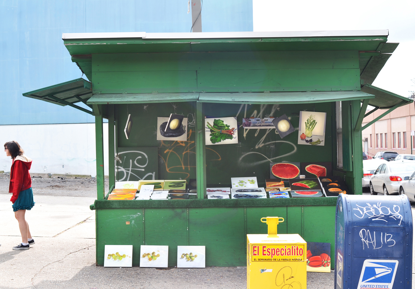 Paul Branca, Fruit and Vegetable Stand, A Project by Paul Branca, October 27, 2012,  Queens Boulevard, Brooklyn, NYC